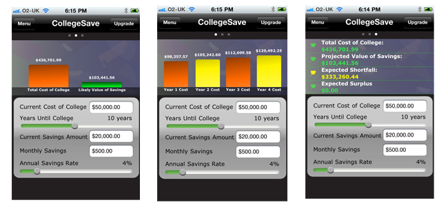 CollegeSave Lite Screen shots